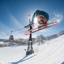 【スキー場】スキーイメージ