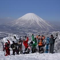 【スキー場】羊蹄山バックにSAIKO-!!