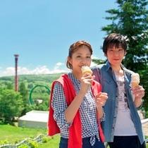 【ルスツでデート】ソフトクリーム片手に♪