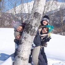 【スノーシュー(F&W)】冬/白銀の世界を楽しむ雪山散策!