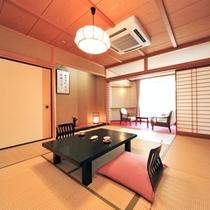 【登竜館10畳】利根川のせせらぎ聞く 女性に人気の純和室。