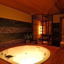 【蒸し風呂付きの源泉ジャグジー貸切風呂「風月の湯」】10:00〜22:00/1時間3,000円