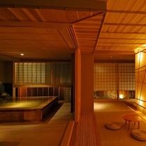 【純和風造りの総檜貸切風呂「鄙の湯」】10:00〜23:00/1時間3,000円
