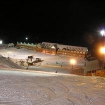 【ノルン水上スキー場】ナイターも期間限定で営業します。