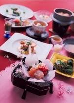 【創作和食会席_春】季節感あふれるリピーターのお客様にも評判の創作和食会席コース