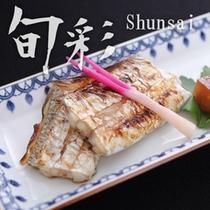 【旬彩膳:焼物 太刀魚つけ焼き】醤油たれで香ばしく焼いた一品。何とも言えない香りを食すという体感。