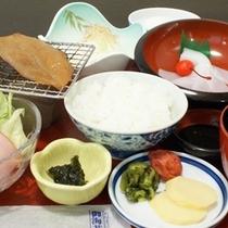 ごはんがおいしい和定食の朝食の一例