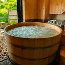 貸切露天風呂「ゆらら」の一例