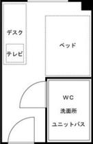●シングルルーム平面図