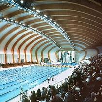 ■静岡県富士水泳場(お車で10分) 各種水泳大会が開催されてます