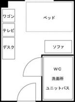 ●ダブルルーム平面図