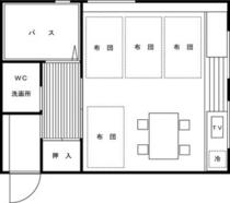 ●和室12畳平面図