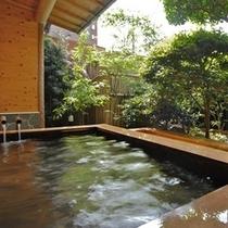 ■源泉掛け流しの露天風呂『風来の湯』