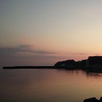 松錦館からの夕日