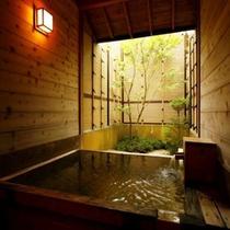 【温泉】貸切露天風呂 桧