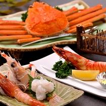 【料理】季節の夕食一例(エビ・カニプラン)