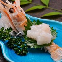 【料理】季節の夕食一例(アカザエビのお造り)