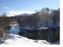 冬のアリスグローブの庭と湖