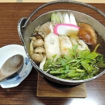 *夕食一例/体の芯から温まる、秋田の郷土料理「きりたんぽ鍋」もお楽しみいただけますs。