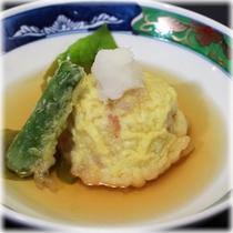 【季節の会席料理】 一品料理 いちじくの天婦羅(秋限定)