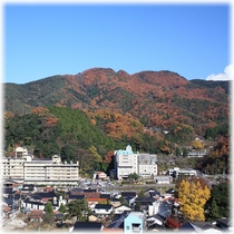 【客室】 温泉街側 秋の紅葉