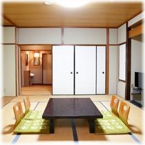【客室】 温泉街側 10畳+2畳 ②