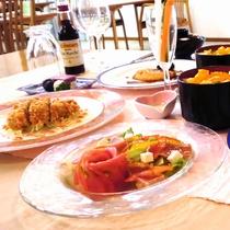 *洋食コース(一例)和食では味わえないアレンジを加えたレパートリーの数々。ぜひご賞味下さい。