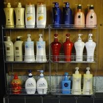 香の湯 シャンプーバー シャンプー&コンディショナー、それぞれお好きなものをお使いください