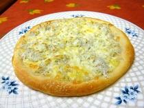 生地から作るピザ。