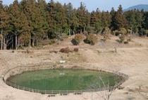隕石が落ちてできた窪地 星ケ窪  かつてはここは競馬場だった2