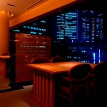 6階 日本料理『桂』 テーブル席 夜景