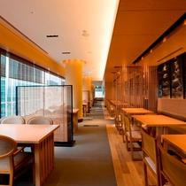6階 日本料理『桂』 テーブル席 昼景