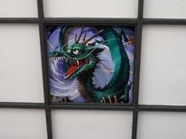 JR日光駅天井