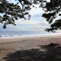 徒歩10分ほどにある 今井浜海水浴場