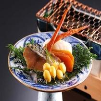 【松露亭のお食事】京都・丹後の昔から続く郷土料理もご一緒にお楽しみ下さい。