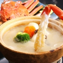 【冬 料理一例】当館オリジナル 天然地物松葉蟹の蟹味噌フォンデュー
