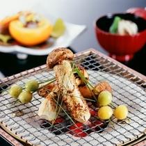 【秋 料理一例】松茸炭火焼