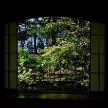 【館内一景】匠が演出する、松露亭の庭