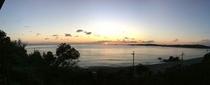 嵐山展望台から羽地内海の眺め(夕)