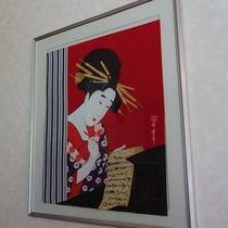 【館内イメージ】浮世絵なども飾っております♪