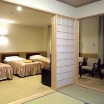 *【和洋室】ベッドは3台までご用意がございます。ご家族やグループ様にオススメです。
