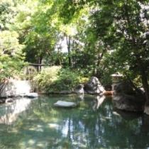 【温泉】二連水車大露天風呂/のびやかな自然の開放感を肌に感じさせる露天風呂