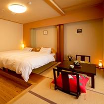 ■一般ベッド付和室■