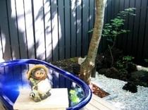 露天風呂・たぬきと一緒に。(厳冬期・16年は1月12日〜2月12日はお休みさせていただきます)