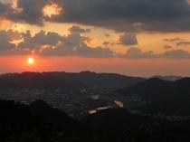 ミカン山からの夕日