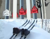 本皮ブーツと歩くスキー(テレマークスキー)