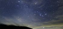 玄関から見られる天の川と9月の星座