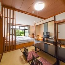 *和洋室・和室を楽しみたいけれど就寝はベットが良いというお客様におすすめなお部屋でございます