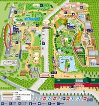 宿より車で5-6分伊豆アニマルキングダム園内の地図