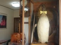 玄関でペンギンがお出迎え